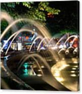 Fountains At Columbus Circle Canvas Print