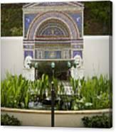 Fountains At The Getty Villa Canvas Print