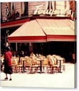 Fouquets Of Paris 1955 Canvas Print
