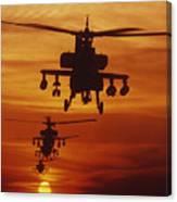 Four Ah-64 Apache Anti-armor Canvas Print
