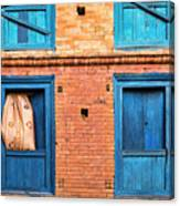 Four Blue Windows Canvas Print