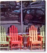 Four Chairs Canvas Print