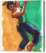 Four Colors Movement Canvas Print