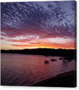Four Elements Sunset Sequence 1 Coconuts Qld  Canvas Print