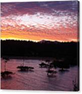 Four Elements Sunset Sequence 3 Coconuts Qld Canvas Print