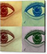 Four Eyes In Pop Art Canvas Print