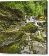 Four Falls Walk Waterfall 3 Canvas Print