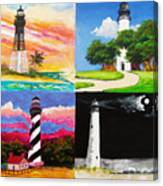 Four Florida Lighthouses Canvas Print