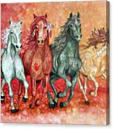 Four Horses Of The Apocalypse Canvas Print
