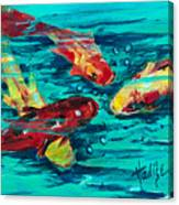Four Koi Canvas Print