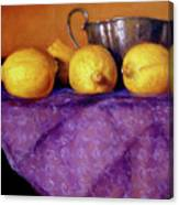 Four Lemons Canvas Print