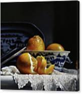 Four Lemons With Canton Canvas Print