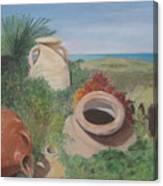 Four Little Brown Jugs Canvas Print