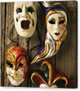 Four Masks Canvas Print