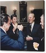Four Presidents Nixon Reagan Ford Canvas Print