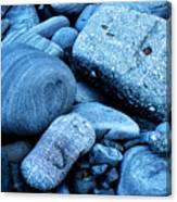 Four Rocks In Blue Canvas Print