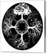 Four Seasons Of Tree Canvas Print