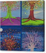 Four Seasons Trees By Jrr Canvas Print