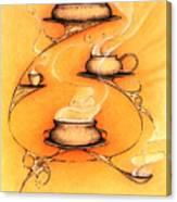 Four Soups  Canvas Print