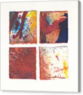 Four Squares Red Flow Canvas Print