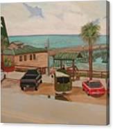 Four Vignettes At The Pier Canvas Print