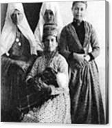 Four Women From Bethlehem Canvas Print