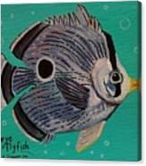 Foureye Butterflyfish Canvas Print