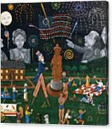 Fourth Of July Celebration Litchfield County Conn. Canvas Print