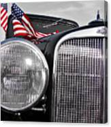 Fourth Of July-chevvy  Canvas Print