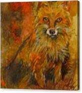 Fox Fire Canvas Print