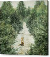 Fox In The Flurries Canvas Print