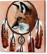 Fox Medicine Wheel Canvas Print