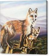 Foxes   Fundamental Foresight Foundation  Canvas Print