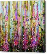 Foxgloves Large Painting Canvas Print