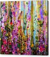 Foxgloves Panel One Canvas Print