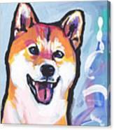 Foxy Shiba Canvas Print
