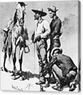 Fr 043 Third Cavalry Trooper Searching A Suspected Revolutionist Fredericremington Sqs Frederick Remington Canvas Print