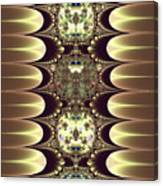 Fractal 42 Cameos In Gold And Ivory Canvas Print