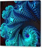 Fractal Art - Blue Wave Canvas Print