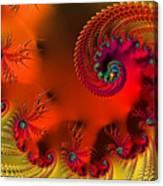 Fractal Art - Breath Of The Dragon Canvas Print