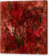 Fractal Christmas Bow Canvas Print