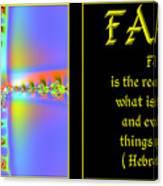 Fractal Faith Hebrews 11 Canvas Print