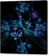 Fractal Forget Me Not Bouquet  Canvas Print