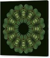 Fractal Wreath-32 Spring Green T-shirt Canvas Print