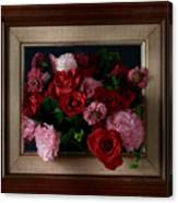 Framed Bouquet Of Flowers Canvas Print
