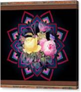 Framed Rose Bouquet Montage Canvas Print