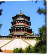 Framed Summer Palace Canvas Print