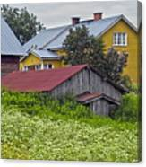 Framehouses In Finland Canvas Print