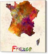 France In Watercolor Canvas Print
