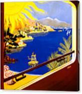 France Vintage Travel Poster Restored Canvas Print